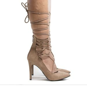 Breckelles Lace up Heels | MAKE ME AN OFFER 🤗